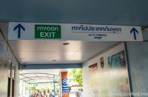After Thai immigration follow the 'Go to Cambodia' signs which will lead you back out to the main street.