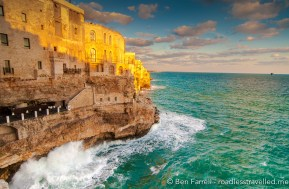 The cliff-side village of Polignano a Mare, Italy