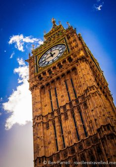 Big Ben reaches for the sky in London, UK.