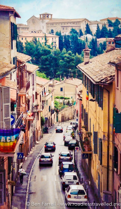 The narrow streets of Perugia