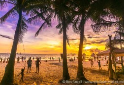Vivid sunset in Boracay, Philippines