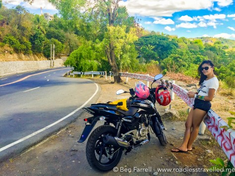 Stretching our legs on q quick rest stop near Antipolo.