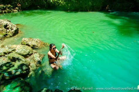 The water at Daranak & Batlag falls is cool, refreshing and clean!