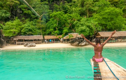 Island hopping in Coron, Philippines