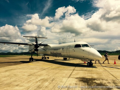Crossing the tarmac at Coron Busuanga Aiport.