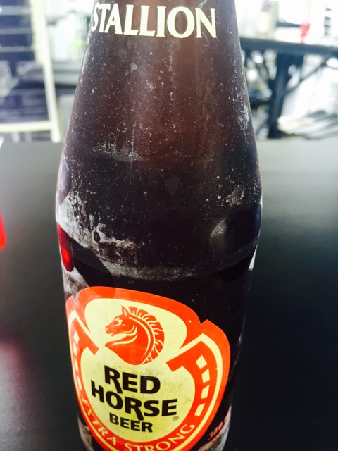 Red Horse Below Zero