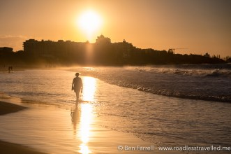 Evening stroll on Mooloolaba Beach, Australia