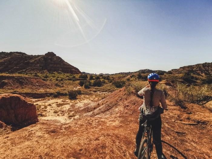 Vélo de montagne au canyon de Palo Duro