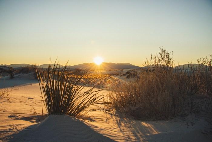 Coucher de soleil sur White Sand