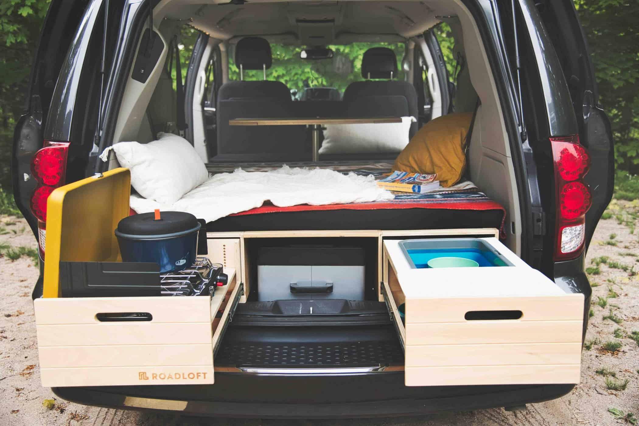 dodge grand caravan camper Order your Minivan camper conversion Kit for Dodge Caravan - Roadloft