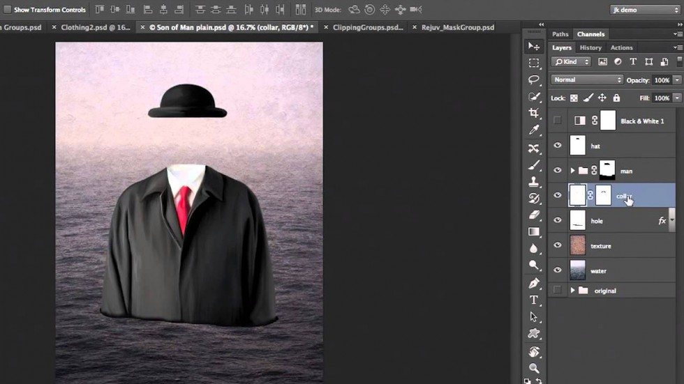 Layer Grouping in Photoshop