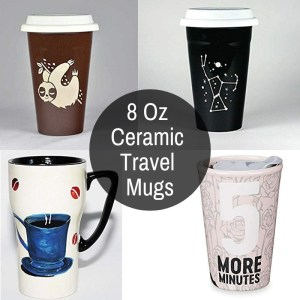 8 Oz Ceramic Travel Mug Road Mugs