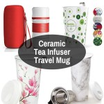 Porcelain Tea Strainer Travel Mug