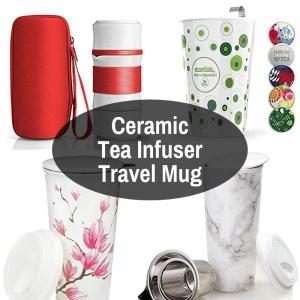 Porcelain Tea Strainer Travel Mug