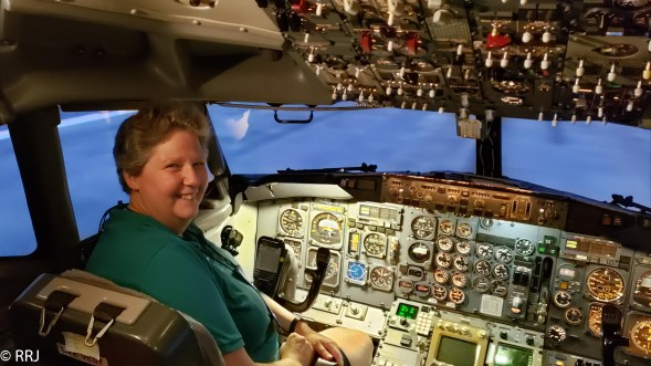 Me in the 737 Simulator at the Delta Flight Museum
