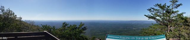 view from Mt Cheaha