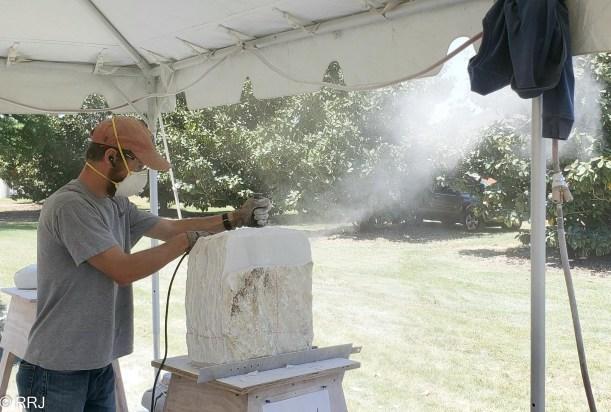 Dust flying at Magic of Marble Festival Sylacauga Alabama