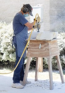 Pam Paine working the stone Magic of Marble Festival Sylacauga Alabama