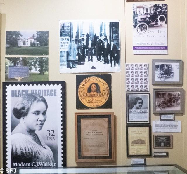 CJ Walker display at the River Road African American Museum
