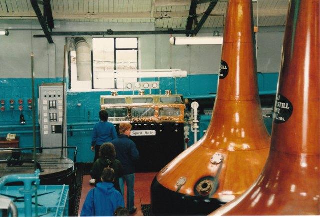 The stills at Bowmore distillery