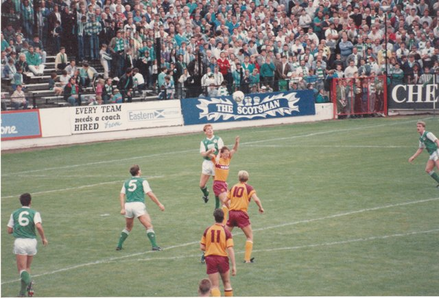 Hibs v Motherwell at Easter Road