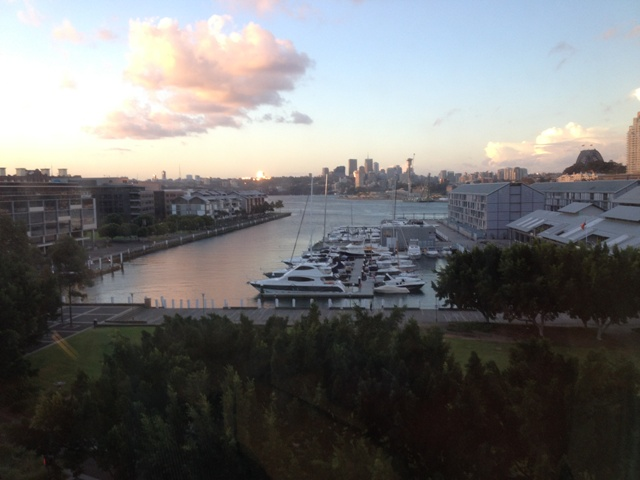 Pyrmont from an office window