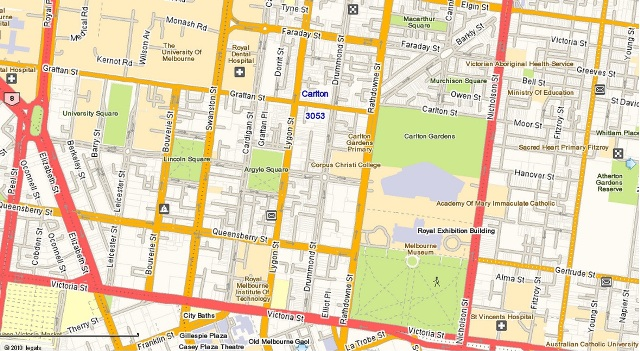 Carlton street map