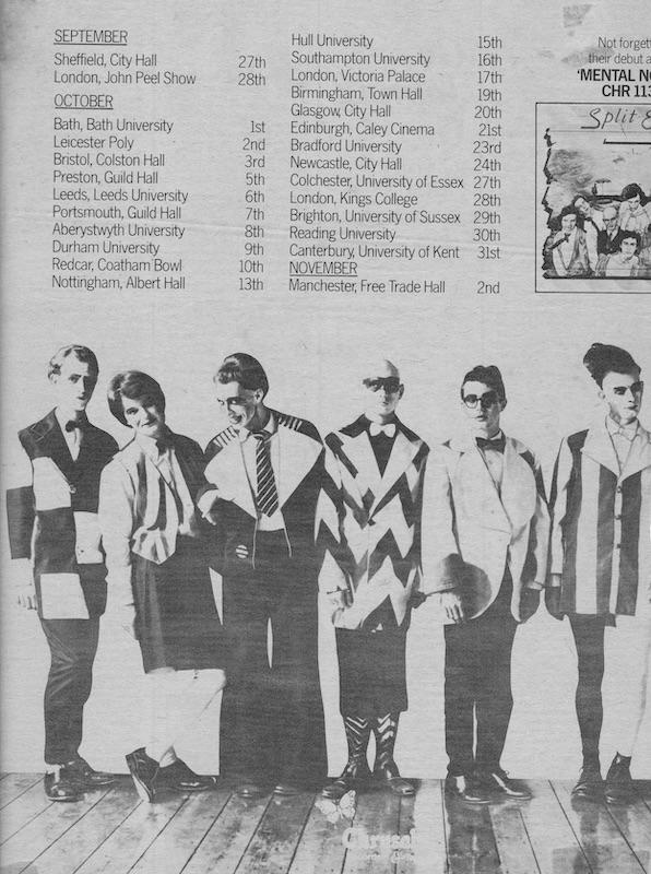Split Enz UK tour dates