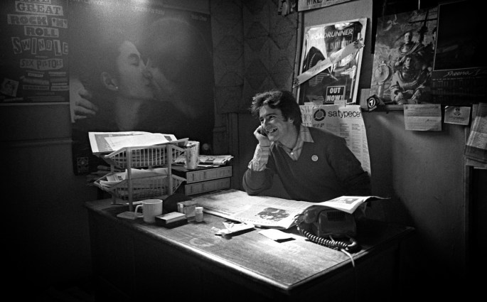 Inside the Roadrunner office 1981
