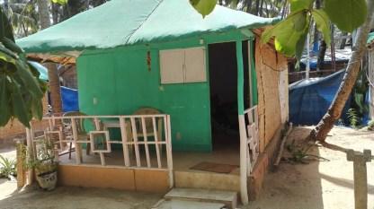 Unsere Hütte in Goa