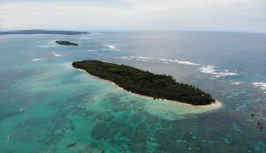 Isla Zapatilla mit der Drohne