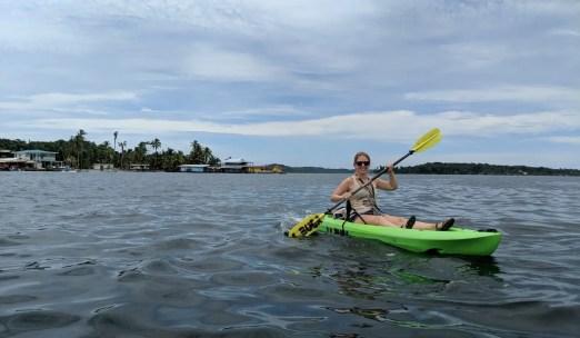 Kajak fahren auf den Bocas del Toro