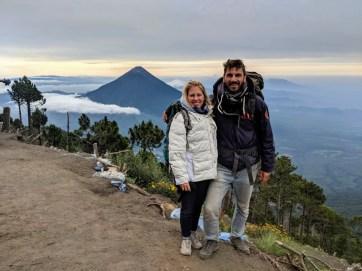 Basislager auf dem Vulkan Acatenango