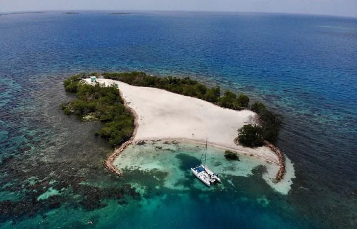 Kleine Insel vor Placencia, Belize