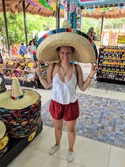 lustige Hüte in Mexiko