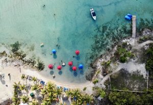 Secret Beach auf Caye Ambergris