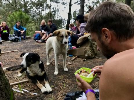 Mittagessen bei der Wanderung auf den Vulkan Aatenango