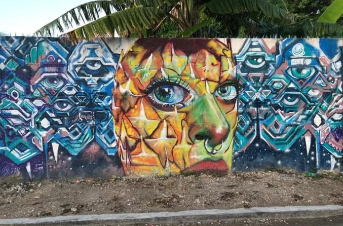 Streetart Bacalar, Mexiko
