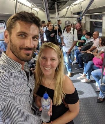 in der Metro von Medellin
