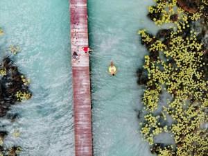 Lagune Bacalar, Drohne
