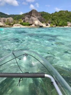 Seychellen   Crystal Kajak Tour auf La Digue