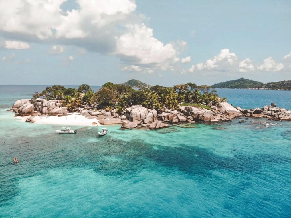 Drohnenaufnahme Coco Island