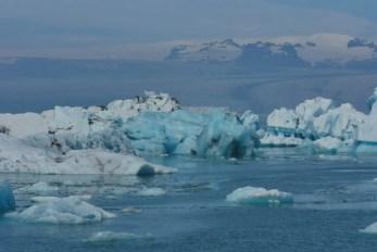 Eis in der Gletscherlagune