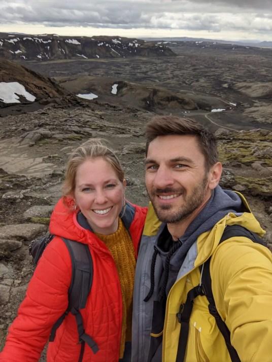 selfie laki crater iceland