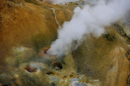 Kerlingarfjöll Hveradalir Geothermalgebiet Island Rauch