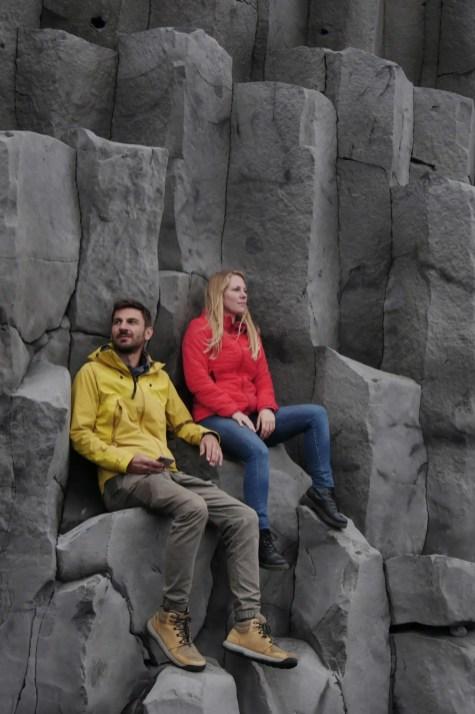 Reynisfjara Basaltsäulen Island