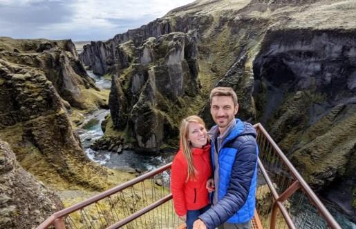 Fjaðrárgljúfur Schlucht Island