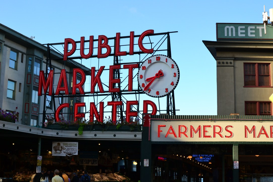 Pike Place Market sign in Seattle