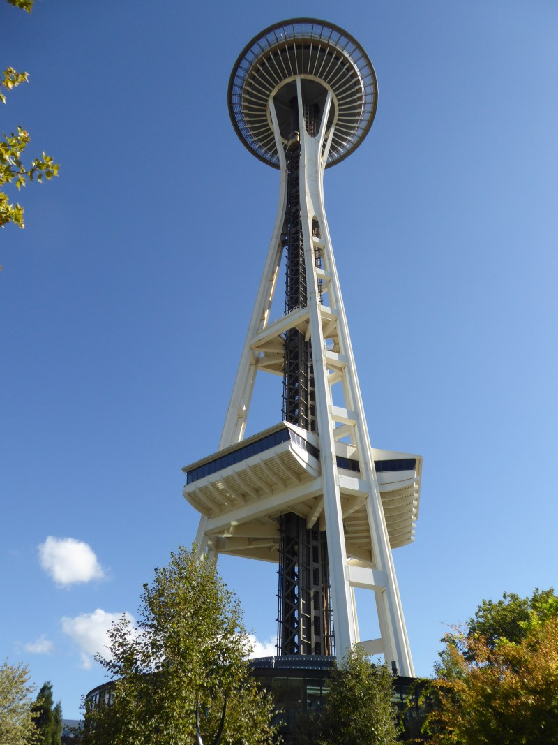 View looking up at the Space Needle, Seattle