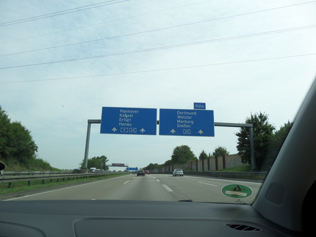 Driving on the AutoBahn in Germany